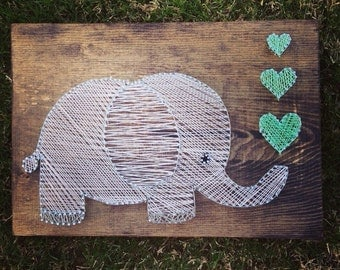 Elephant String Art - Wall hanging - Nursery Decor