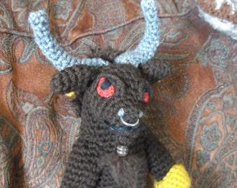 Minotaur, minotaur amigurumi, crochet minotaur, mythical bull man, crochet minotaur with posable parts, ready to ship