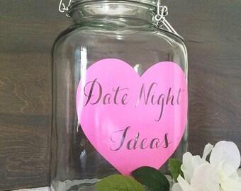 Date Night Jar - Date Night Ideas - WJ-7