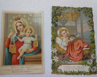 Vintage European-Made Remembrance Religious Cards