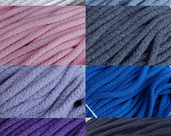 """Wholesale 8 colors 55 yards Skein Cotton Cord 5 mm / 0,2"""" Cord 50 meters long for Creative Project Sewing Crafts Jewellery Decorations"""