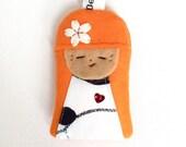 Kokeshi Doll Keyring / Bag Charm - Handmade Japanese Kokeshi Doll Gift