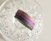 Thin Glitter Light Pink/Purple/Black Tape Set of 3(5mm x 5m)