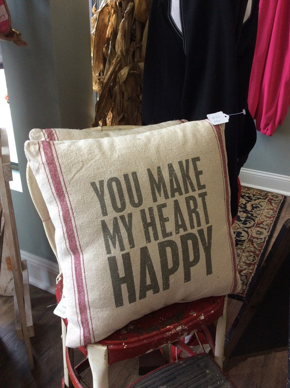 "15"" Pillow - You Make My Heart Happy"