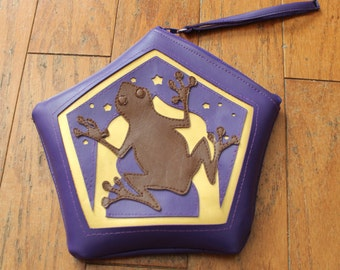Chocolate Frog Wristlet Purse inspired by Harry Potter