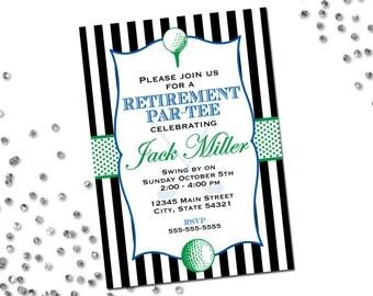 Retirement invitations golf | Etsy
