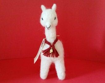 "Alpaca 9"" Needle Felted White Alpaca Fiber"