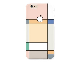 iPhone 7 case - 'Pastel Grid Graphic' - iPhone 5s case, iPhone 6s case, iPhone 7+ case, iPhone SE, iPhone 7, non-glossy hard shell M27.