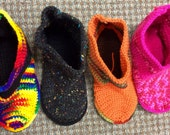 Various Crochet House Shoes