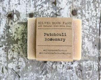 Patchouli Rosemary Goat Milk Soap