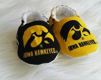 Iowa Hawkeye Baby Shoes
