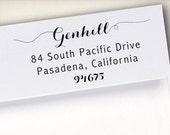 Self-Inking Address Stamp, Return Address Stamp, Wood Mounted Address Stamp, Envelope Stamp, Wedding Personalized Stamp, Custom Stamp (S2)