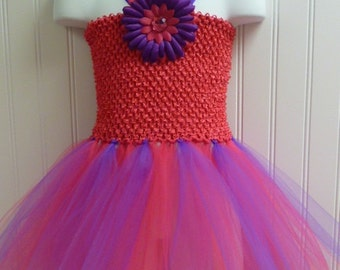 Tutu Dress Hot Pink and purple / BASIC
