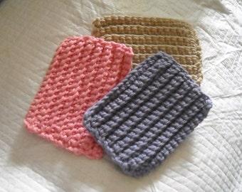Crochet Scrubbies - Set of 3