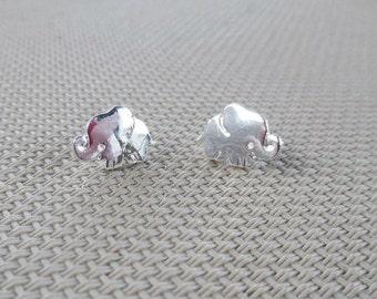 Alabama Silver  Elephant Earrings