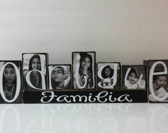 Personalized family name wood blocks - 5 dollars per block