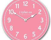 New Traditional Pink Wall Clock
