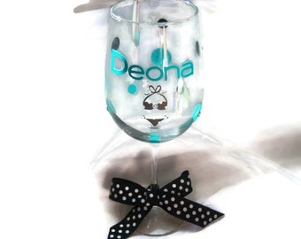 Personalized Bikini Wine Glass