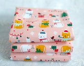Festive Friends Cats Christmas Fabric By Aless Bayliss For Dashwood Studios