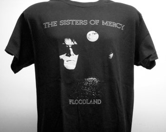 Sisters of Mercy - Floodland T-shirt (FREE SHIPPING in Usa only) Fields of the Nephilim The Mission Bauhaus Clan of Xymox Christian Death