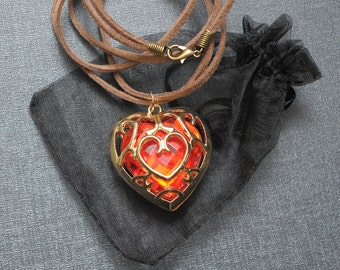 Legend of Zelda necklace – Skyward Sword heart container – Link cosplay jewelry / jewellery