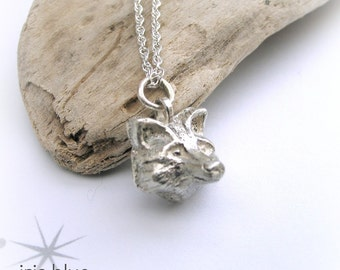 Fox Necklace, Sterling Silver Necklace, Gift Idea for Her, Animal Jewellery