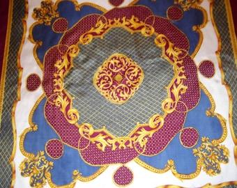 Peter Hahn baroque print vintage scarf