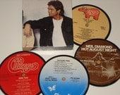 CLASSIC ROCK Coasters vinyl record drink coasters