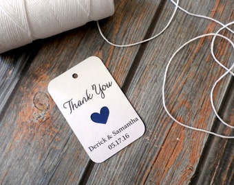 25 Custom Shimmering Favor Tags - Thank You - Personalized Wedding Favor Tags, Baby Shower Tags, Favor Tags