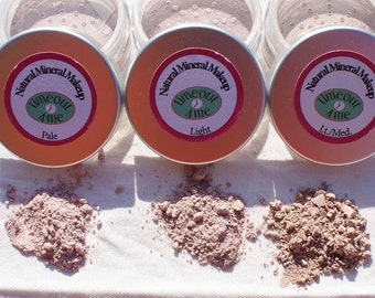 All- Natural Mineral Makeup Can Be Used Dry or as Liquid
