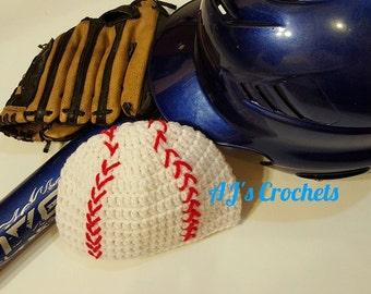 Crochet Baseball Hat, Baseball Beanie, Crochet Beanie, Crochet Hat, Baseball Hat, Sports Hat, Sports Beanie, Baseball, Softball, Ball Hat
