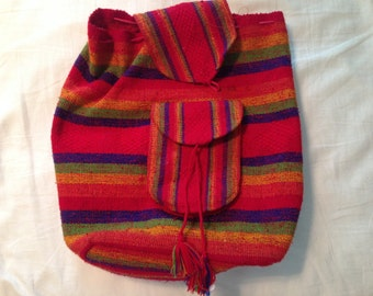 rainbow south american woven backpack