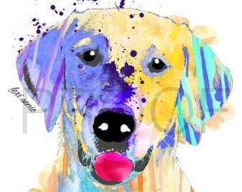 Yellow Lab || Labrador Retriever Print || Carson the Lab || Dog Art || Dog Art Print || Labrador