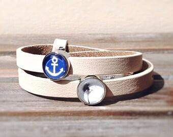 """Lederarmband """" anchor """""""
