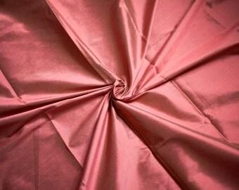 Red Orange Dupioni Fabric, Cherry Orange Silk Fabric by the Half Yard