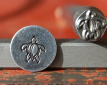 EXCLUSIVE Sea Turtle Steel Stamp Perfect for Metal Stamping and Jewelry Design Work  SGK-11