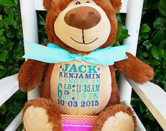 BearCubby, Stuffed BEar Cubby, Stuffed Bear, Stuffed Bear, Personalized Bear, Monogrammed Bear, BearCubby
