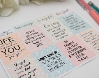 Inspirational Quotes #2, Planner Stickers, Planner Accessories