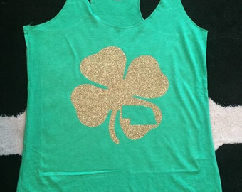 Custom State St. Patricks Day tank top