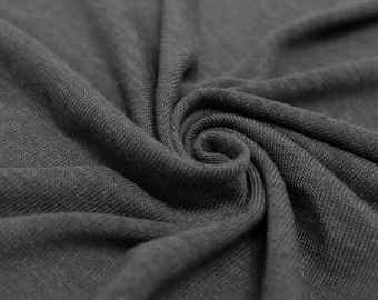 Charcoal B-200 Hacci Classic Sweater knit by the Yard- 1 Yard Style 13243