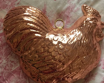 French Country Copper Wall hanging Hen