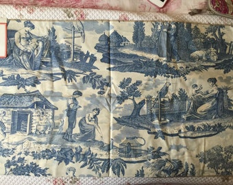 French Country Romantic Toile Le Kakatoes by Brunschwig and Fils