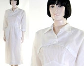 Vintage 1950s White Nurse Uniform/Dress / Barco of California / Fitted Nurse Uniform / Medical Dress / Costume
