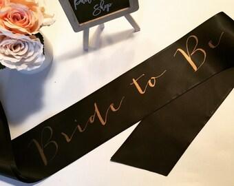 Bride to be sash- bride sash- bachelorette party sash