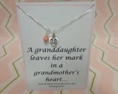 Grandma Quote Gift Keepsake From Granddaughter Sterling Silver Jewelry
