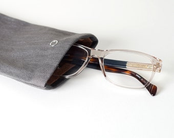 Glasses case, Sunglasses case, Black Denim sunglass case, Sunglasses ,Glasses