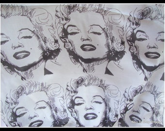 Marilyn Monroe scarf, long scarf, Lengyel scarf, luxurious, long scarf,vintage scarf,  black and gray, artist design, Marilyn Monroe