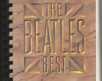 Vintage Music Book - THE BEATLES BEST - Easy - For All Portable Keyboards -Electronic Keyboard Music - E-Z Play 1975 Hall Leonard Songbook
