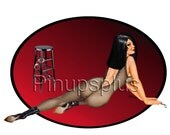 Pinup Girl Decal Waterslide Dominatrix Bondage Mistress BDSM for guitars, lockers, toolboxes, furniture jewelry boxes S931
