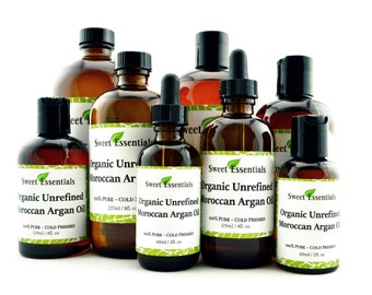 Organic Unrefined Moroccan Argan Oil | Imported from Morocco | 100% Pure | Various Sizes | For Hair & Skin Use | By Sweet Essentials